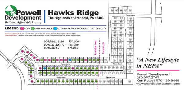 Hawk's Ridge A new lifestyle in NEPA, click or tap for our brochure